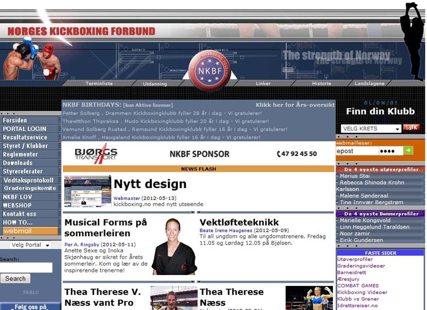 Nytt web-design